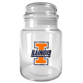 Illinois Fighting Illini 31oz Glass Candy Jar - Primary Logo