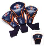 Illinois Fighting Illini 3 Pack Contour Sock Headcovers