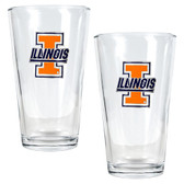 Illinois Fighting Illini 2pc Pint Ale Glass Set