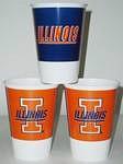 Illinois Fighting Illini 16 oz Cups