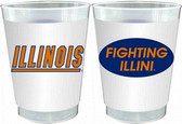 Illinois Fighting Illini 10 oz. Frosted Cups