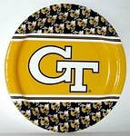 "Georgia Tech Yellow Jackets 9"" Dinner Paper Plates"