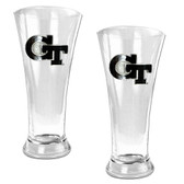 Georgia Tech Yellow Jackets 2pc Premiere Pilsner Glass Set