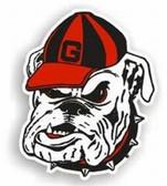 """Georgia Bulldogs 12"""" Bulldog Car Magnet"""
