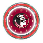 "Florida State Seminoles 14"" Neon Wall Clock"