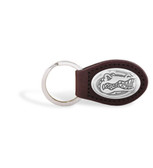 Florida Gators Brown Leather Key Chain