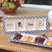 Duke Blue Devils Ceramic Relish Tray