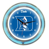 "Duke Blue Devils 14"" Neon Wall Clock"