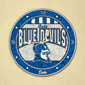 "Duke Blue Devils 12"" Art Glass Clock"