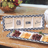 Connecticut Huskies Ceramic Relish Tray