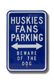 Connecticut Huskies Beware of the Dog Parking Sign