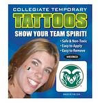 Colorado State Rams Face Tattoos