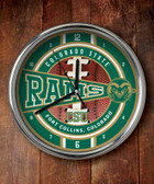Colorado State Rams Chrome Clock