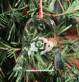 Colorado Buffaloes Bell Shaped Crystal Christmas Ornament