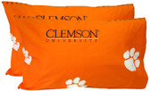 Clemson Printed Pillow Case - (Set of 2) - Solid