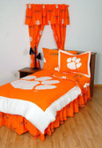 Clemson Bed in a Bag Queen - With Team Colored Sheets