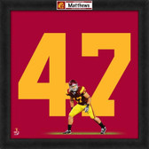 Clay Matthews USC Trojans 20x20 Framed Uniframe Jersey Photo