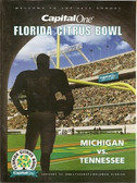 Citrus Bowl Program Michigan vs. Tennessee - 2002