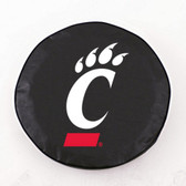 Cincinnati Bearcats Black Tire Cover, Large