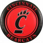"Cincinnati Bearcats 9"" Paper Plates"