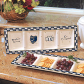 Brigham Young Cougars Ceramic Relish Tray