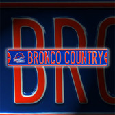 Boise State Broncos Bronco Country Street Sign