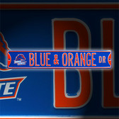 Boise State Broncos Blue and Orange Drive Street Sign