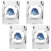 Boise State Broncos 4pc Square Shot Glass Set
