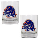 Boise State Broncos 2pc Rocks Glass Set