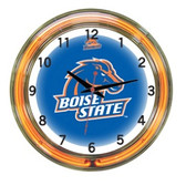 """Boise State Broncos 18"""" Neon Wall Clock"""