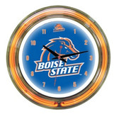 """Boise State Broncos 14"""" Neon Wall Clock"""
