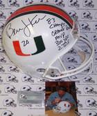 Bernie Kosar Signed Miami Hurricanes Full Size Helmet AFSRMH-KOSAR-STAT