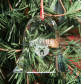 Baylor Bears Bell Shaped Crystal Christmas Ornament