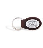 Auburn Tigers Brown Leather Key Chain