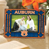 Auburn Tigers Art Glass Horizontal Picture Frame