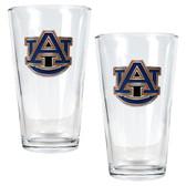 Auburn Tigers 2pc Pint Ale Glass Set