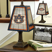 "Auburn Tigers 14"" Art Glass Table Lamp"
