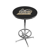 Army Black Knights Pub Table w/ Foot Ring Base