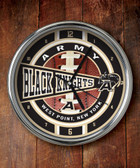 Army Black Knights Chrome Clock