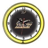 "Army Black Knights 18"" Neon Wall Clock"