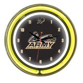 "Army Black Knights 14"" Neon Wall Clock"