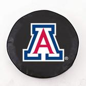 Arizona Wildcats Black Tire Cover, Large