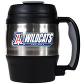 Arizona Wildcats 52oz. Stainless Steel Macho Travel Mug with Bottle Opener