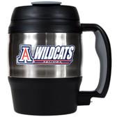Arizona Wildcats 52oz. Stainless Steel Macho Travel Mug with Bottle Opener