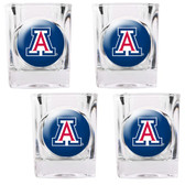 Arizona Wildcats 4pc Square Shot Glass Set