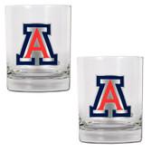 Arizona Wildcats 2pc Rocks Glass Set