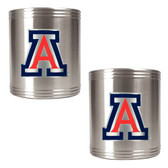 Arizona Wildcats 2pc Stainless Steel Can Holder Set