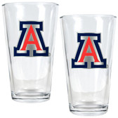 Arizona Wildcats 2pc Pint Ale Glass Set