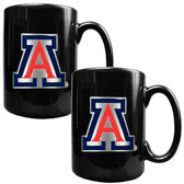 Arizona Wildcats 2pc Coffee Mug Set