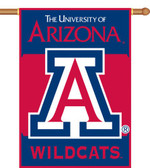 "Arizona Wildcats 2-Sided 28"" x 40"" Banner w/ Pole Sleeve"
